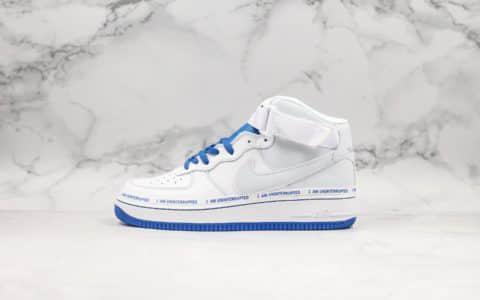 耐克Uninterrupted x Nike Air Force 1 MORE THAN纯原版本空军一号詹皇公司联名款白蓝字母3M反光附赠彩笔DIY鞋款区别市面通货版本 货号:CQ0494-600