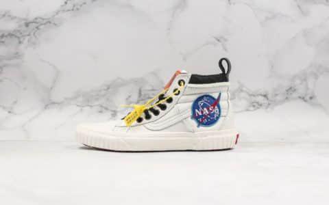 万斯NASA x Vans Space Voyager Old Skool True White纯原版本改良老茱利安经典低帮休闲运动板鞋米白&黑白太空旅行者60周年联名款