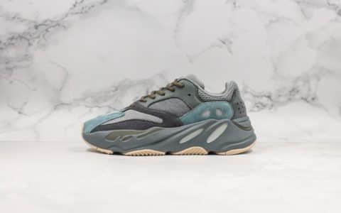 阿迪达斯adidas Yeezy Boost 700 Teal Blue纯原金标版本椰子700全新配色原厂巴斯夫中底网布搭配麂皮鞋面原档案数据开发复古老爹鞋 货号:FW2499