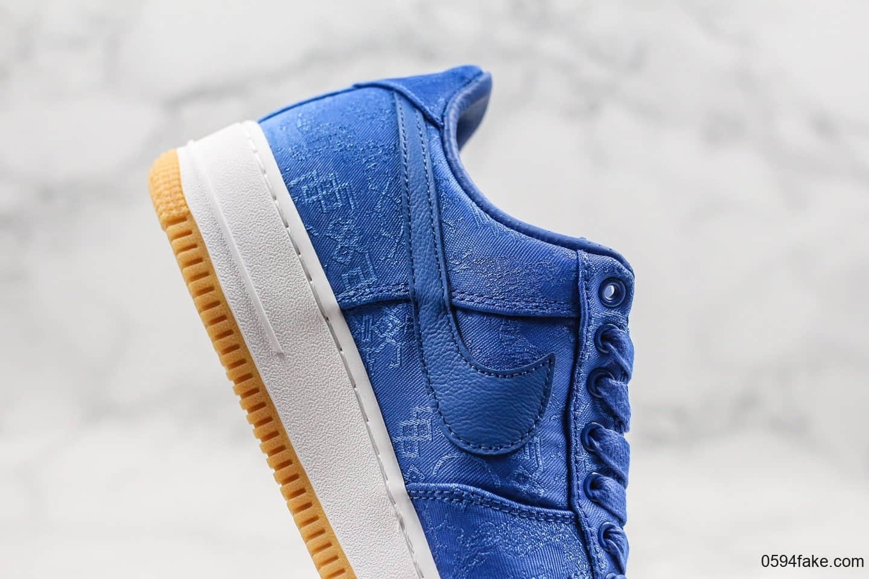 耐克Nike Air Force 1 x Clot纯原版本陈冠希联名款蓝丝绸配色纯原版本原代工厂出货鞋面可撕裂内置ZOOM全掌大气垫 货号:CJ5290-400