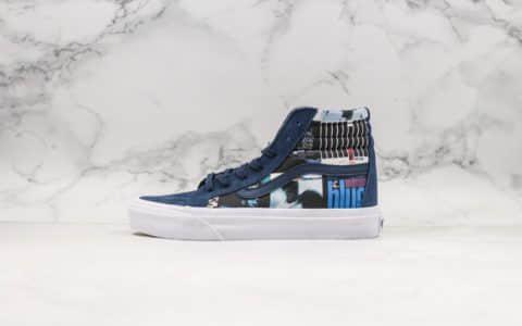 万斯VANSx DQM x Blue Note公司级版本三方联名限量款蓝色图案全新配色原装抽屉鞋盒搭配全猪八材质鞋面原厂硫化带钢印 货号:VN-0OZEG4X