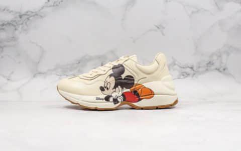 古驰Gucci Rhyton Vintage Trainer Sneaker莞产纯原版本米老鼠米奇配色原档案数据开发全鞋均采用原厂材料打造