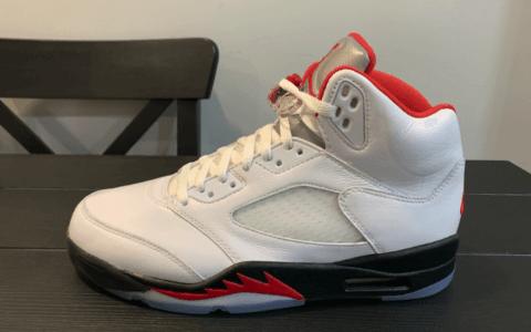 """还是熟悉的""""流川枫""""配色!Air Jordan 5""""Fire Red""""最新实物图曝光!明年发售! 货号:CT4838-102"""