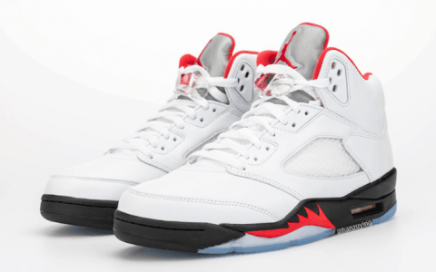 """""""流川枫""""配色Air Jordan 5""""Fire Red""""最新实物图来了!看完分分钟种草! 货号:CT4838-102"""