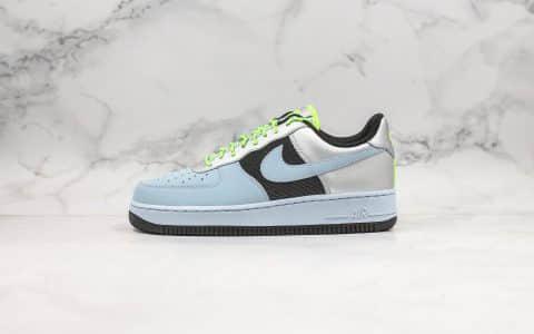 耐克Nike Air Force 1 Low Baby Blue Volt Black Silver纯原版本低帮空军一号雾霾蓝内置Sole气垫原楦头纸板打造 货号:CN0176-400