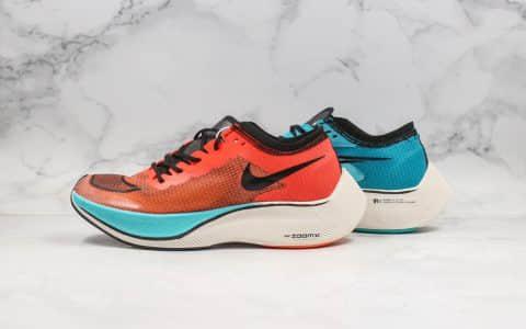 耐克Nike ZoomX Vaporfly NEXT%公司级版本轻质马拉松跑鞋蓝橙色内置Zoomx缓震科技原楦头纸板打造 货号:CD4553-300