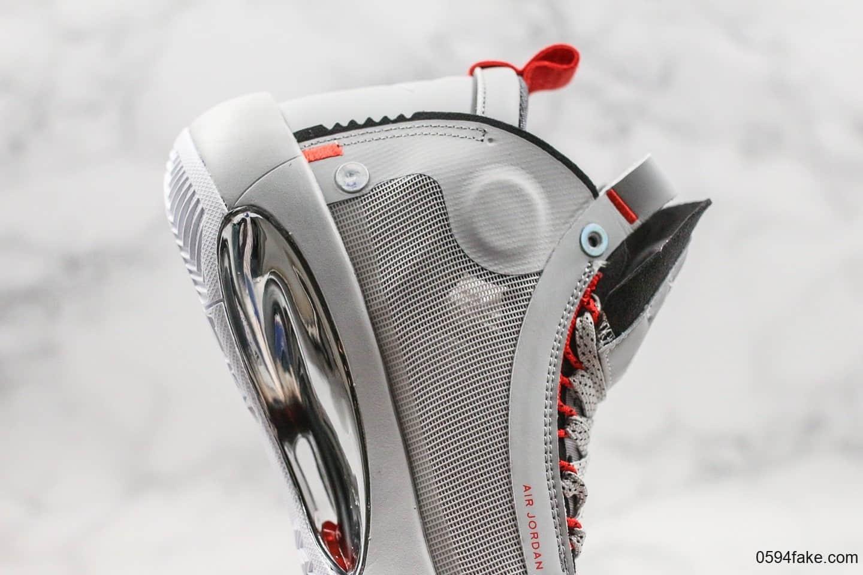 乔丹Air Jordan XXXIV PE Eclipse纯原版本未来概念轻量化AJ34篮球鞋狼灰色内置气垫支持实战镂空中底 货号:BQ3381-500