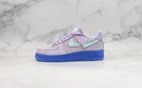 耐克Nike Air Force 1 07 Low纯原版本低帮空军一号麂皮断勾香芋紫配色内置气垫头层皮材质 货号:CT7358-500