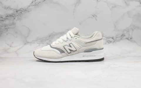 新百伦New Balance 997纯原版本米白色魔术贴NB997换钩3M配色原楦头纸板打造原鞋开模一比一 货号:M997JWT