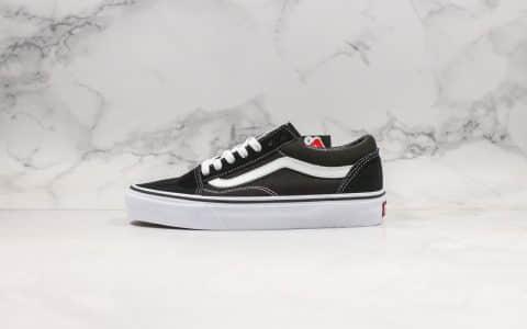 万斯Vans Old Skool公司级版本低帮硫化黑白配色帆布鞋原盒原标原厂硫化大底