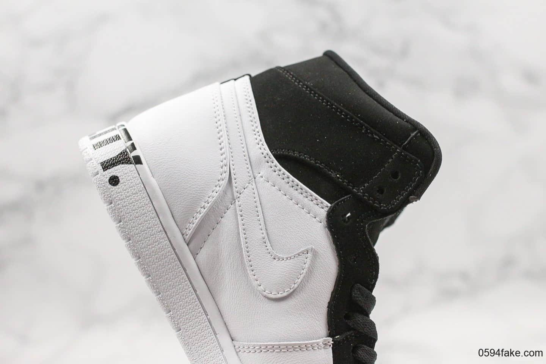 乔丹Air Jordan 1 Retro High Equality公司级版本黑人月AJ1熊猫配色原盒原标原档案数据开发 货号:AQ7474-001