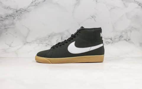 耐克Nike Blazer Mid公司级版本高帮开拓者板鞋黑生胶色青岛QT纯原鞋面原楦头纸板打造原鞋开模一比一制作 货号:CD2569-018