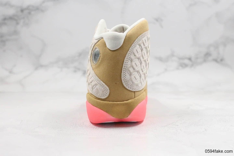 乔丹Air Jordan 13 Retro Cny纯原版本中国年铜钱压纹AJ13白黄粉原厂碳板加持莞产3D全息猫眼原厂贝利皮料 货号:CW4409-100