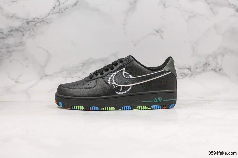 耐克Nike Air Force 1 NYC Parks纯原版本低帮空军一号纽约中央公园黑配色内置全掌气
