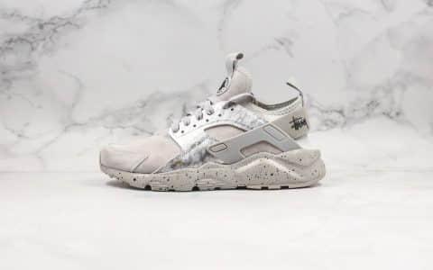 耐克Nike Air Huarache Ultra Suede ID公司级华莱士复古慢跑鞋灰色搭载Huarache技术原盒原标区别市面通货版本 货号:829669-338