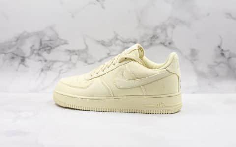 耐克Nike Air Force 1'07 LV8纯原版本低帮空军一号浅黄色帆布鞋内置全掌Sole气垫原盒原标 货号:CJ0691-100