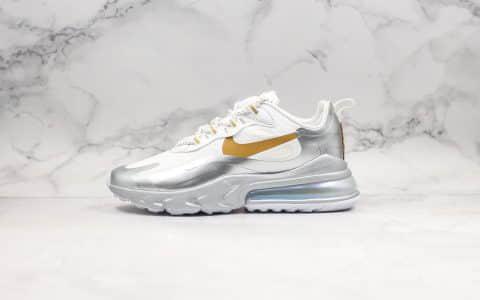 耐克Nike React Air Max 270纯原版本网纱系列机能半掌气垫跑鞋上海限定白银配色原楦头原纸板打造 货号:CQ4597-110