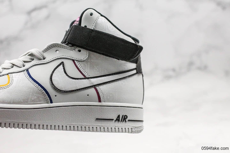 耐克Nike Air Force 1 '07 Day of the Dead公司级版本高帮空军一号致敬墨西哥传统节日亡灵节配色内置气垫独家实拍 货号:CT1138-100