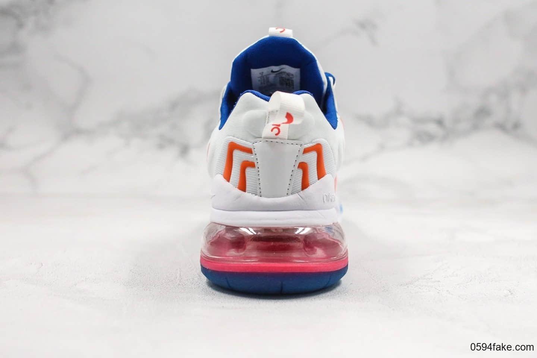 耐克Nike Air Max 270 SE纯原版本混合科技max270后半掌气垫慢跑鞋内置半掌气垫原档案数据开发 货号:CD6870-405