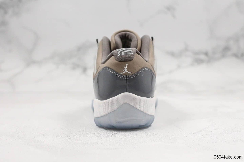 乔丹Air Jordan XI Low Bred纯原版本低帮AJ11酷灰内置真碳板加持原厂材料打造原盒配件 货号:528895-003