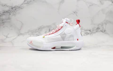 乔丹Air Jordan XXXIV Eclipse纯原版本未来概念轻量化AJ34篮球鞋内置Zoom气垫原楦头纸板打造 货号:BQ3381-002