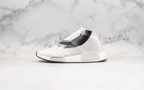 阿迪达斯Adidas NMD CS1 PK纯原版本锦鲤鱼红白配色NMD袜子鞋原厂Boost缓震大底 货号:BB9260