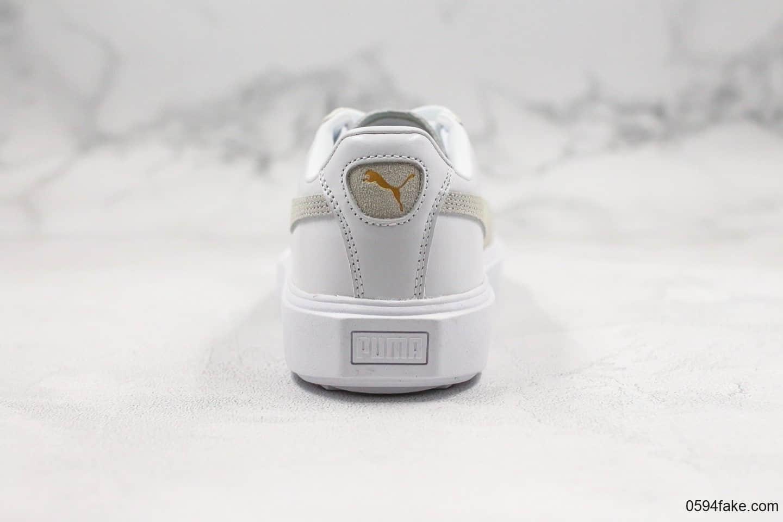 彪马PUMA Breaker Racing Leather公司级版本锯齿松糕鞋白灰配色原档案数据开发杨洋代言款 货号:369191-01