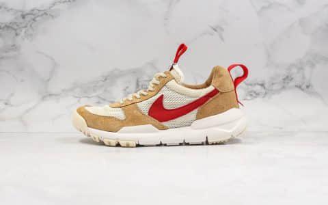 耐克Nike Craft Mars Yard 2.0 x Tom Sachs纯原版本艺术家联名权志龙同款宇航员神游2.0经典款复古做旧黄红勾原盒原标 货号:AA2261-100