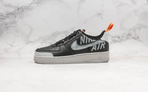 耐克Nike Air Force 1 High 07 LV8公司级版本低帮空军一号黑灰字母蛇纹内置全掌Sole气垫原盒原标 货号:BQ5484-001