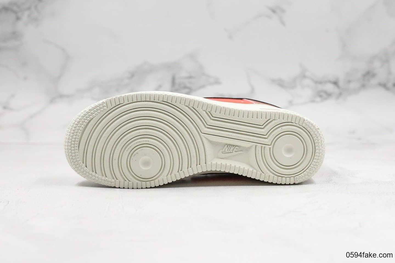 耐克Nike Air Force 1 Low纯原版本低帮空军一号粉白红内置全掌气垫原楦头纸板打造原档案数据开发 货号:CT3429-900