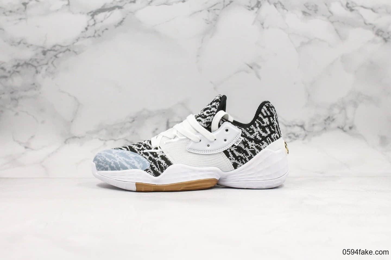 阿迪达斯adidas Harden Vol.4 Gca纯原版本哈登4代篮球鞋黑白配色原档案数据开发原材料打造一比一实战篮球鞋 货号:EF1260