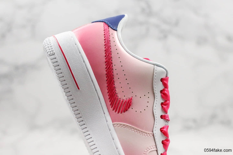 耐克Nike Air Force 1 Kay Yow纯原版本空军一号抗乳腺癌限定渐变粉配色原鞋开模一比一打原盒原标 货号:CT1092-100