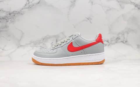 耐克Nike Air Force 1 Low 07纯原版本低帮空军一号灰白红内置全掌气垫鞋面采用移膜荔枝纹皮革原盒原标 货号:CL0057-003
