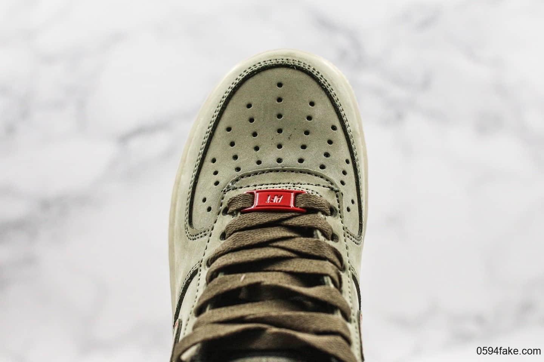 耐克Nike Air Force 1 UPSTEP纯原版本低帮空军一号军绿色内置全掌气垫原鞋开模一比一打造 货号:CJ6602-255