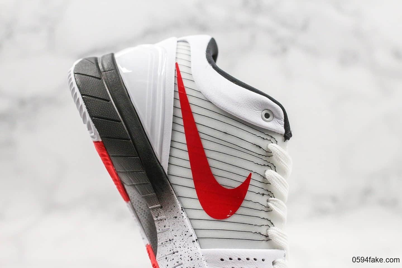 耐克Nike Zoom Kobe 4纯原版本科比4代美国国家篮球队灰红配色内置真碳板加持支持各种高强度实战 货号:AV6339-106