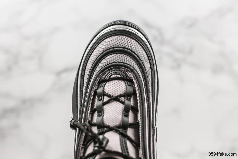 耐克Nike Air Max 97 RFT GS纯原版本灰黑子弹头气垫鞋原厂真气垫区别市面通货版本细节可随意对比 货号:BQ8437-001