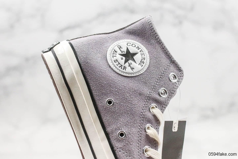 匡威Converse Chunk Taylor All Star公司级版本麂皮绒毛高帮香芋紫原盒原标原档案数据开发