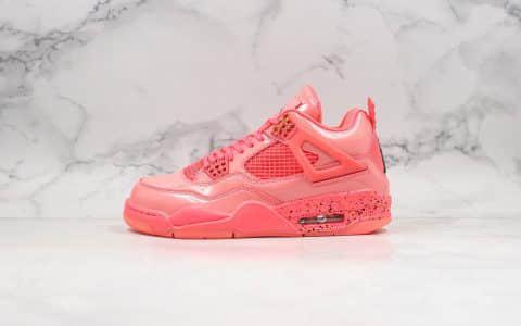 乔丹Air Jordan 4 Retro NRG纯原版本粉红糖果AJ4漆皮镜面篮球鞋原鞋开模一比一打造进口皮料 货号:AQ9128-600