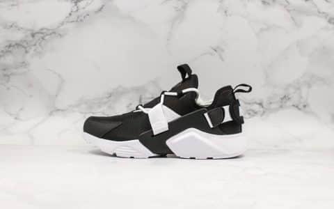 耐克Nike Air Huarache City Low华莱士五代跑鞋休闲运动鞋黑白公司级带半码原模具制内置气垫 货号:AH6804-002