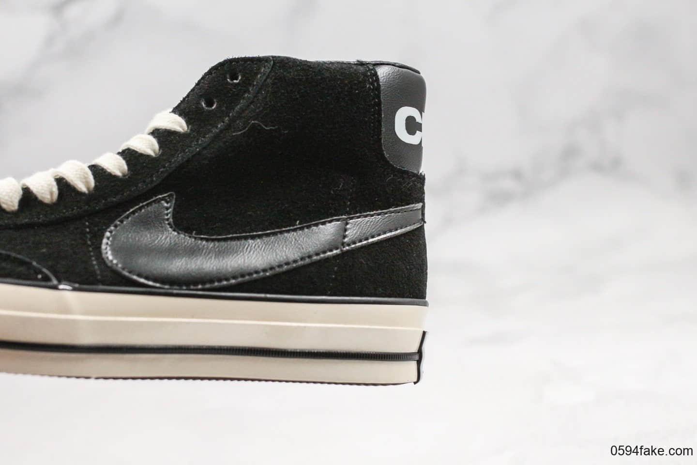 匡威CdG x Nike x CONVERSE公司级版本三方联名款高帮黑色原厂硫化工艺原盒原标