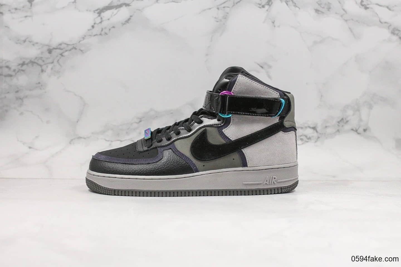 耐克Nike Air Force 1 x A Ma Maniére纯原版本高帮空军一号限量发售款黑魂内置气垫原