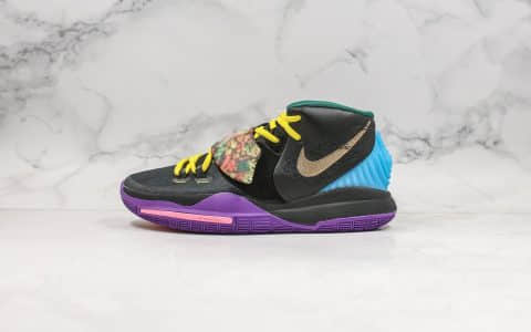 耐克Nike Kyrie 6 Pre-Heat Beijing纯原版本欧文6代北京城市限定黑紫配色内置气垫支持高强度实战 货号:CD5029-001