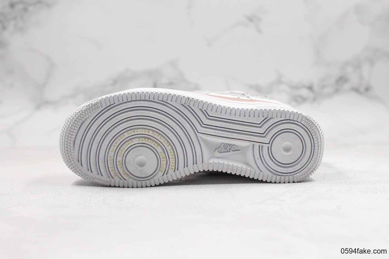 耐克Nike Air Force 1 Doernbecher纯原版本空军一号慈善花卉配色内置气垫完美后跟定型原档案数据开发 货号:CV2591-100