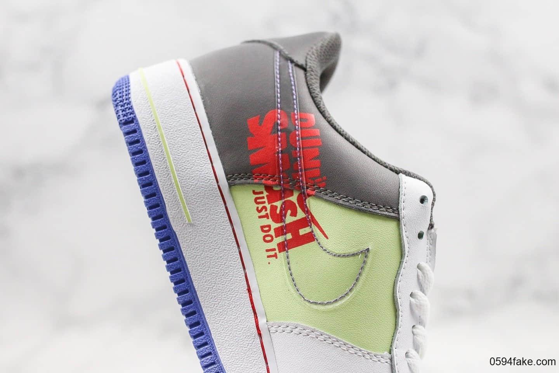 耐克Nike Air Force 1 Low GS 'Dunk It Script Swoosh纯原版本低帮空军一号手稿薰衣草紫内置气垫双勾设计 货号:CT1628-001