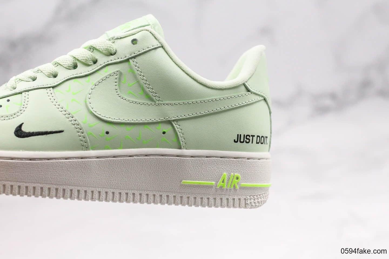 耐克Nike Air Force 1 Low Just Do It纯原版本低帮空军一号牛油果绿内置气垫原档案数据开发 货号:CT2541-700