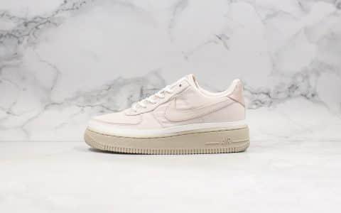耐克Nike Air Force 1 '07 SE纯原版本低帮空军一号粉色正确褶皱防水面料内置气垫原盒原标 货号:AA0287-604
