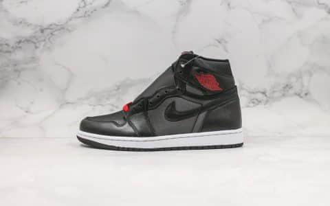 乔丹Air Jordan 1 High OG Black Satin纯原版本黑红丝绸AJ1原档案数据开发打造 货号:555088-060