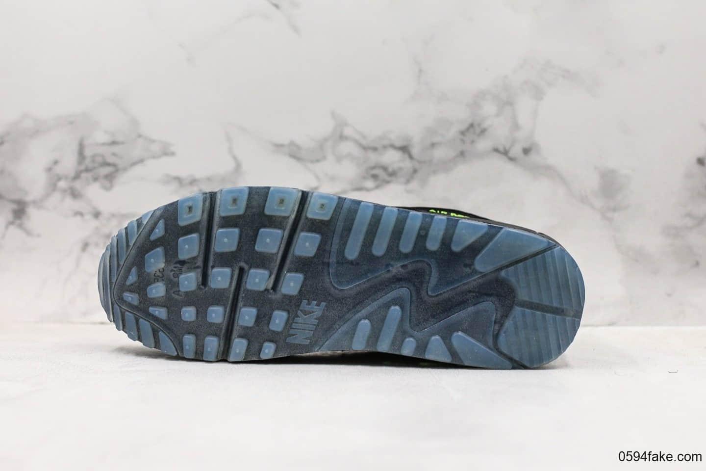 耐克Nike Wmns Air Max 90 SE Day teal tint纯原版本复古Max90气垫鞋黑绿配色内置可视气垫原档案数据开发 货号:AQ6101-001