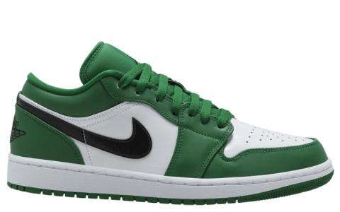 """元年""""凯尔特人""""装扮!全新Air Jordan 1 Low"""" Pine Green""""即将发售! 货号:553558-301"""