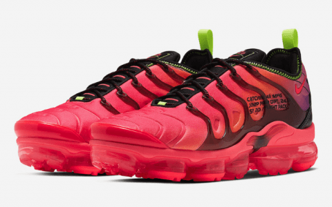 Nike Air VaporMax Plus新配色即将登场!酷似OW联名! 货号:CU4709-001